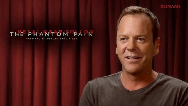 Kiefer Sutherland será Snake en Metal Gear Solid 5: The Phantom Pain