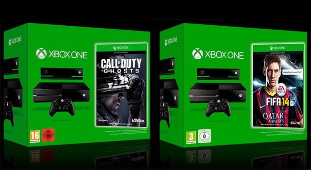 Packs de Xbox One con Call of Duty: Ghosts y FIFA 14 por 499 euros