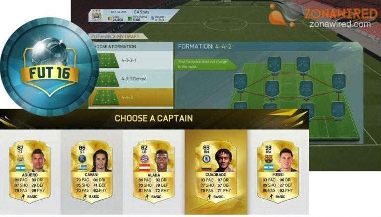 FIFA 16 incluirá el nuevo modo FUT Draft
